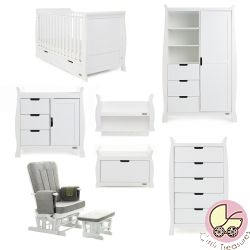 Obaby Stamford Classic 7 Piece Nursery Room Set in White