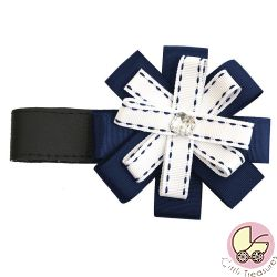 BabyStyle Magnetic Ribbon in Navy & White
