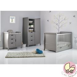 Obaby Stamford Classic 3 Piece Nursery Room Set in Taupe Grey