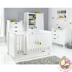 Obaby Stamford Classic 4pc Nursery Room Set in White