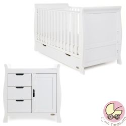 Obaby Stamford Classic 2 Piece Nursery Room Set in White