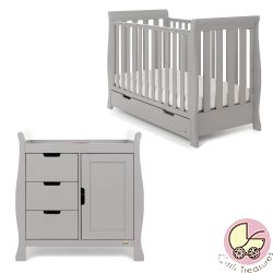 Obaby Stamford Mini 2 Piece Nursery Room Set in Warm Grey
