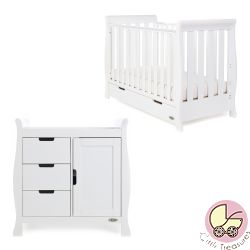 Obaby Stamford Mini 2 Piece Nursery Room Set in White