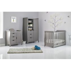 Obaby Stamford Mini 3pc Nursery Room Set in Taupe Grey