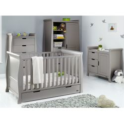 Obaby Stamford Classic 4 Piece Nursery Room Set in Taupe Grey