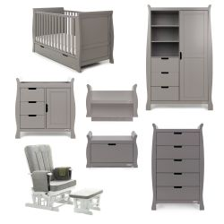 Obaby Stamford Classic 7 Piece Nursery Room Set in Taupe Grey