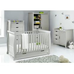 Obaby Stamford Classic 4 Piece Nursery Room Set in Warm Grey