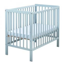 East Coast Carolina Space Saver Cot (Blue) & Mattress