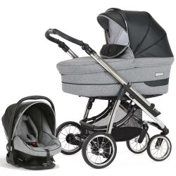 Bebecar Pack Ip-Op Classic XL 3-in-1 Travel System (Pepper Grey)