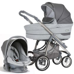 Bebecar Pack Ip-Op Classic XL 3-in-1 Travel System (Slate Grey)