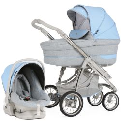 Bebecar Pack Ip-Op Classic XL 3-in-1 Travel System (City Blue)