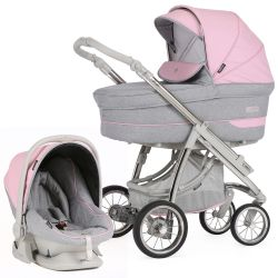 Bebecar Pack Ip-Op Classic XL 3-in-1 Travel System (City Pink)
