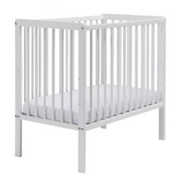 East Coast Carolina Space Saver Cot (White) & Mattress