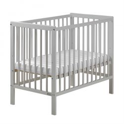 East Coast Carolina Space Saver Cot (Grey) & Mattress