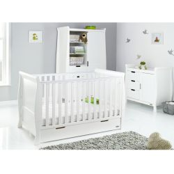 Obaby Stamford Classic 3pc Nursery Room Set in White