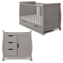 Obaby Stamford Classic 2 Piece Nursery Room Set in Taupe Grey