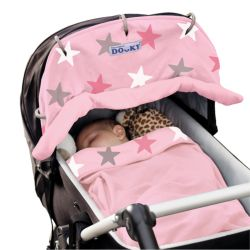 Dooky Universal Cover in Pink Stars