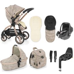 egg Special Edition Stroller, Maxi Cosi Travel System & Accessories in Camo Sand