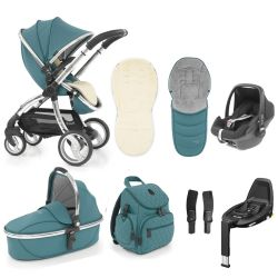 egg Special Edition Stroller, Maxi Cosi Travel System & Accessories in Cool Mist