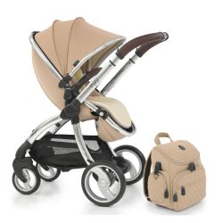egg® Stroller in Honeycomb Special Edition, deluxe Reversible Seat Liner & Matching Backpack Style Changing Bag