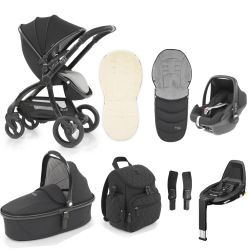 egg Special Edition Stroller, Maxi Cosi Travel System & Accessories in Just Black