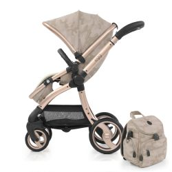 egg® Stroller in Camo Sand Special Edition with deluxe reversible seat liner & matching Backpack Changing Bag