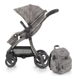 egg® Stroller in Camo Grey Special Edition with deluxe reversible seat liner & matching Backpack Changing Bag