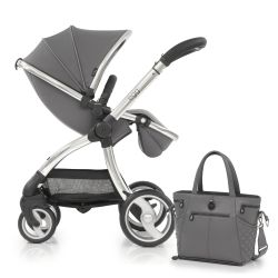 egg® Stroller in Anthracite Grey Special Edition, deluxe Reversible Seat Liner & Matching Changing Bag