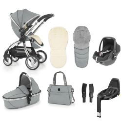egg Stroller Maxi Cosi Travel System & Accessories in Platinum Grey