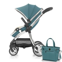 egg® Stroller in Cool Mist Special Edition, deluxe Reversible Seat Liner & Matching Changing Bag