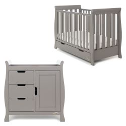 Obaby Stamford Mini 2 Piece Room Set in Taupe Grey