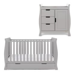 Obaby Stamford Classic 2 Piece Nursery Room Set in Warm Grey